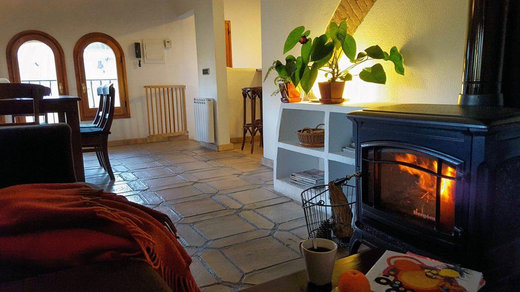 Fireplace penthouse Casa Argentera