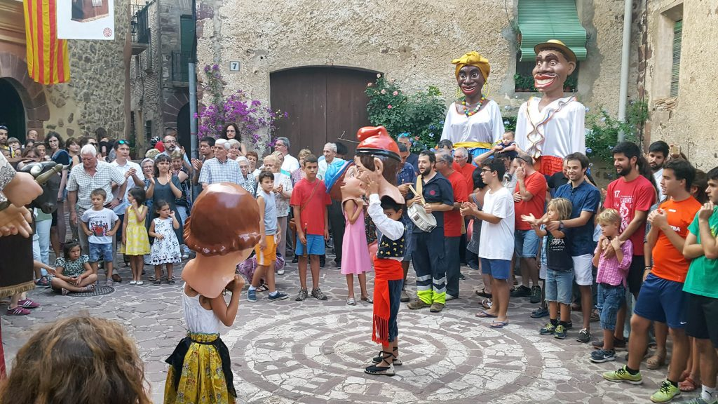 Fiesta mayor in L'Argentera, a typical Catalan village